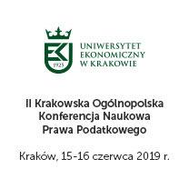 II Krakowska Ogólnopolska Konferencja Naukowa Prawa Podatkowego UEK
